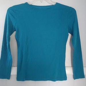 NWOT Cherokee teal blue basic long sleeved tee